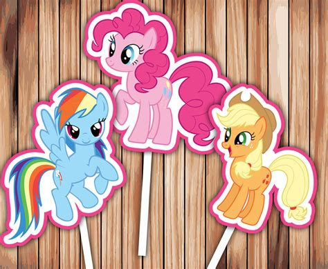my little pony printable birthday decorations my little pony cupcake toppers party decor printable digital