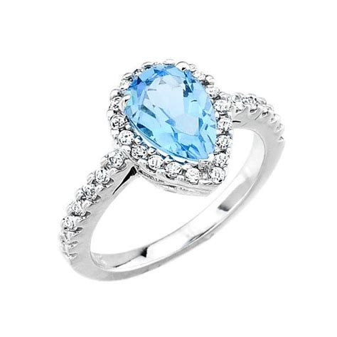blue topaz wedding rings with blue topaz ring and