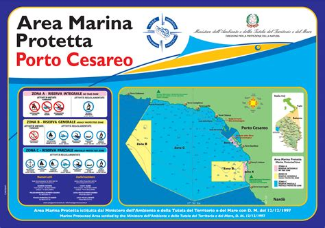 mappa porto cesareo area marina protetta di porto cesareo salento