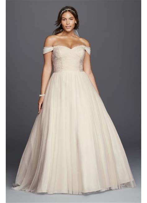 Plus Size Wedding Dresses On Plus Size Models by Beaded Lace Sweetheart Plus Size Wedding Dress David S