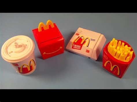 food toys 1999 food foolers set of 4 mcdonalds happy meal toys review