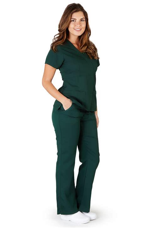 Rn Sweater Mismis Fit L ultra soft premium womens junior fit mock wrap scrub sets ebay