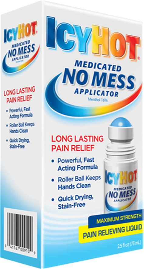 icy hot drug facts icy hot no mess