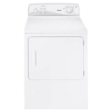hotpoint 6 8 cu ft gas dryer in white htdp120gdww the