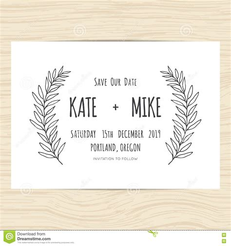 minimal wedding anniversary cards templates save the date wedding invitation card template with
