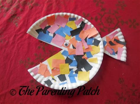 paper plate fish craft parenting patch