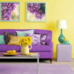 yellow purple bedroom: bright yellow combines well with purple the interiors of the children