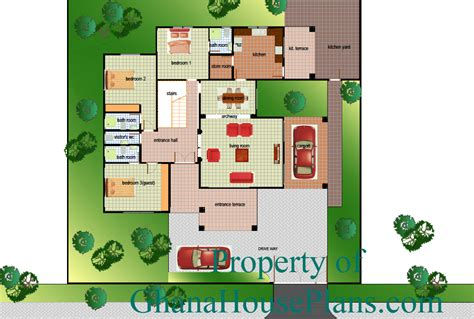 4 Bedroom Townhouse Floor Plans ghana house plans obrapa house plan