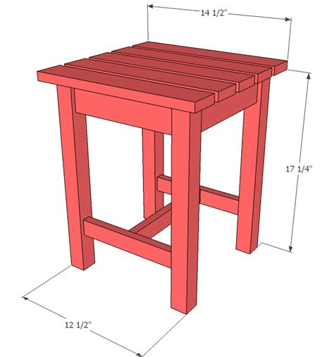 End Table Size by White Adirondack Stool Or End Table Diy Projects