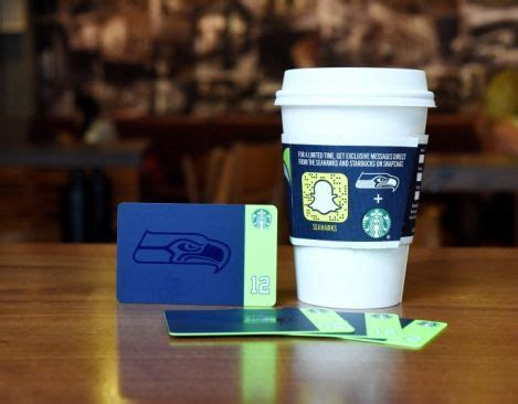 Starbucks Gift Card Offer - epr retail news starbucks and the seattle seahawks to offer a limited edition gift card