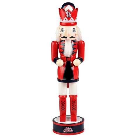 mlb nutcrackers forever collectibles mlb st louis cardinals 14 inch wooden nutcracker