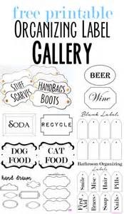 Free printable organizing labels for all your stuff in my own style