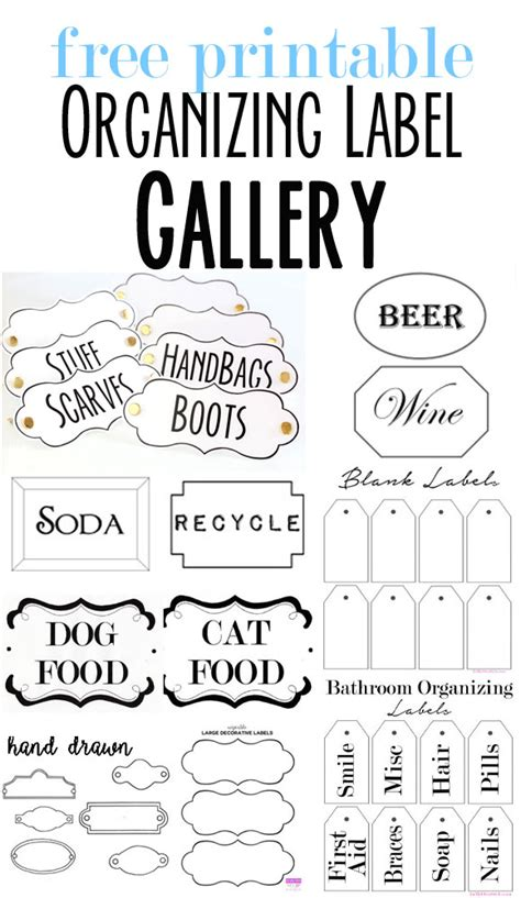 printable labels organizing free printable organizing labels for all your stuff