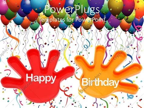 template after effects happy birthday powerpoint template hands with the words happy birthday