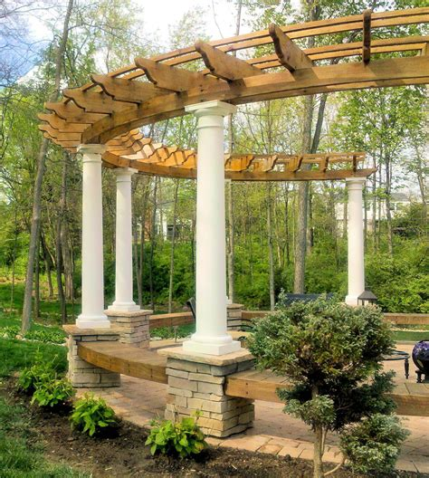 patio arbor plans curved cedar pergola ideas picture pergolas curved
