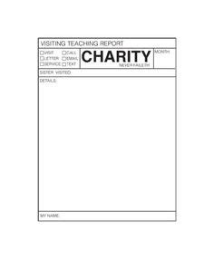 Visiting Teaching Interview Questionnaire I Love Being Lds Pinterest Creative Awesome And Visiting Teaching Reporting Template