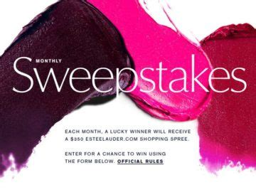 Estee Lauder Sweepstakes - estee lauder monthly sweepstakes
