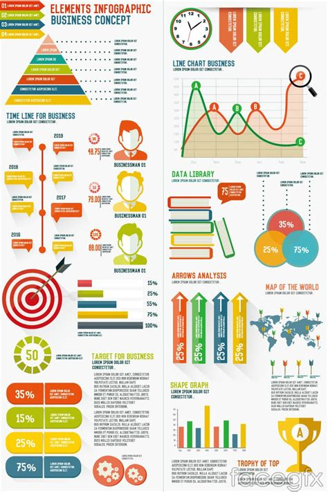 Best 65 Free Infographic Vector Templates Designmaz Free Infographic Templates