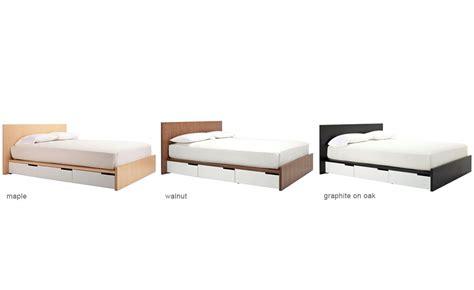 modu licious bedside table modern bedside table blu dot blu dot modu licious queen bed hivemodern com