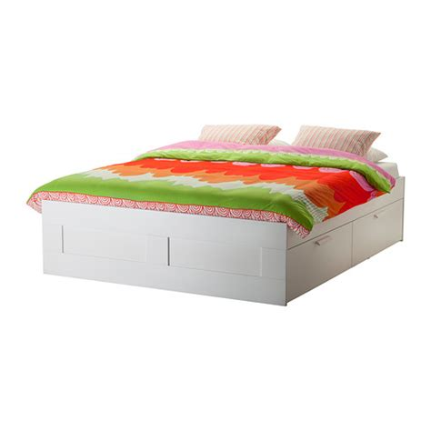 Ikea Bed Frame With Storage Brimnes Bed Frame With Storage White Leirsund 180x200 Cm