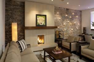 Wall sconce likewise stone wall living room with fireplace likewise