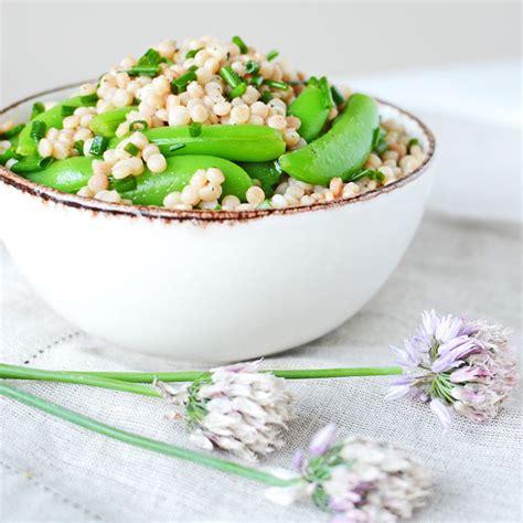 Sweet Peas Part Of A Detox Meal by Israeli Couscous And Sugar Snap Pea Salad Simple Seasonal