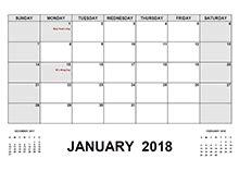Calendar 2018 Holidays Pdf Free 2018 Pdf Calendar Templates Print 2018