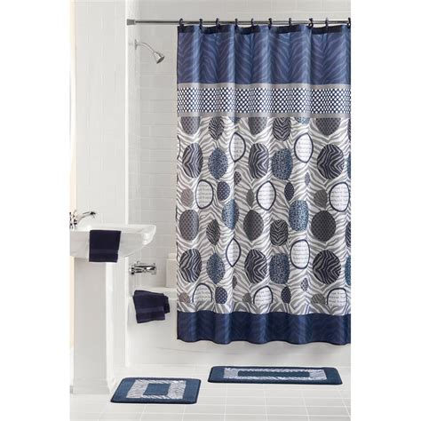 Bathroom Shower Curtains And Rugs Bathroom Shower Curtain And Rug Set Best Home Design 2018