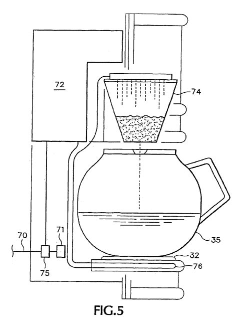 drawing maker patent us6892626 in wall coffee maker patents