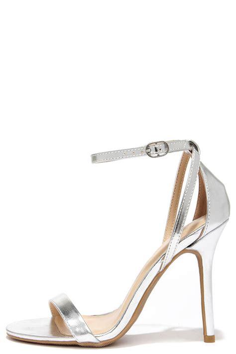High Heels Krd14 Silver 33 silver heels ankle heels 22 00