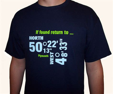 Shirts For Him And Personalized Destination Co Ordinates T Shirt For Him