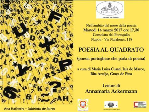 consolato portogallo roma poesia al quadrato marted 236 14 marzo 2017 17h30
