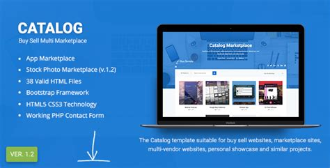 Catalog Buy Sell Marketplace Responsive Site Template Your Best Themes Marketplace Website Template