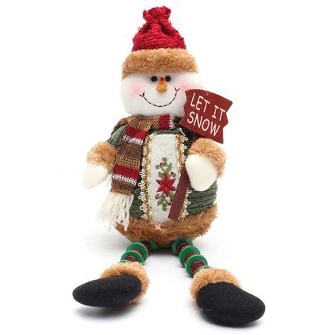 santa ckaus with snow decoration santa claus snow elk doll decoration tree decent ornaments