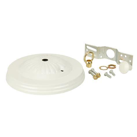 Shop Portfolio White Metal Ceiling Light Mount At Lowes Com Portfolio Ceiling Light