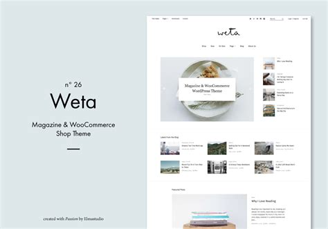 wordpress kommentare layout weta ein magazin woocommerce shop wordpress theme von
