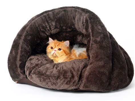 covered cat bed pls pet cuddle pouch pet bed bag covered hooded pet bed