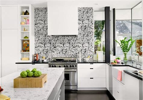 wallpaper for kitchen cabinets white kitchen cabinets and modern wallpaper ideas for