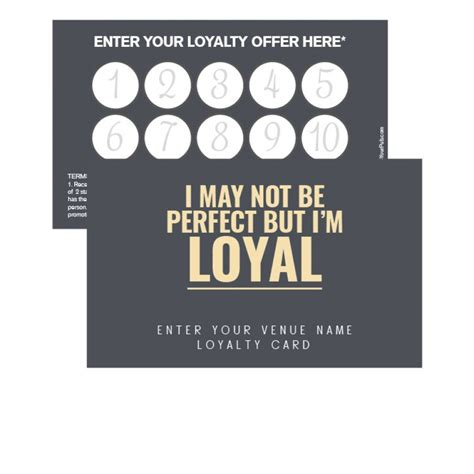 Loyalty St Card Template Free by Cornfields Loyalty Card Promote Your Pub