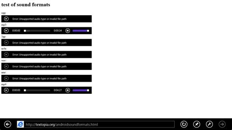 html5 audio mobile html5 audio element do not work in ie10 but works in