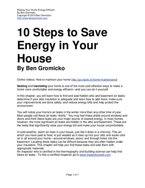 10 Steps For The Best Possible Savings On Everything by 10 Steps Save Energy Your House Bengromicko 1