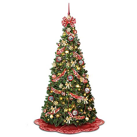 thomas kinkade pre lit pull up christmas tree wondrous winter