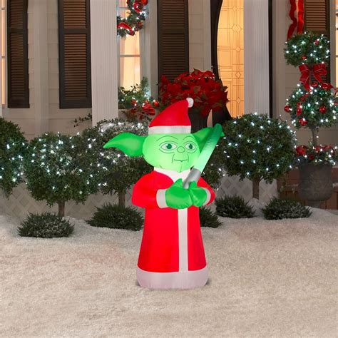 star wars yoda 3 5 airblown inflatable lighted yard art