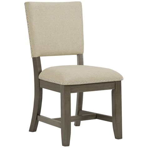 Gray Upholstered Chair by City Furniture Omaha Gray Upholstered Side Chair