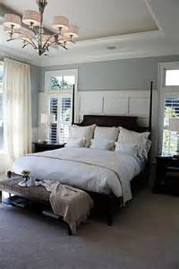 master bedroom with grey walls home