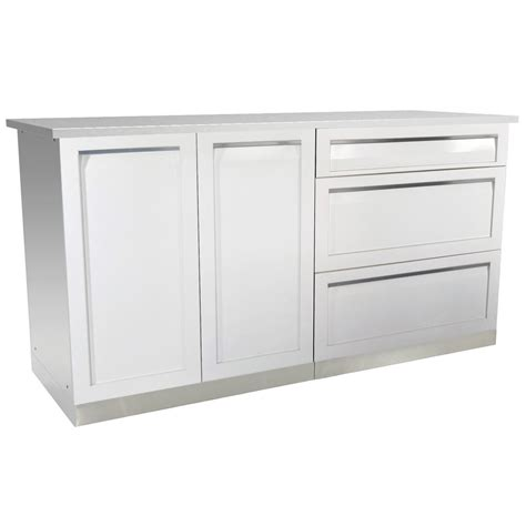 4 life outdoor stainless steel drawer plus 32x35x22 5 in 4 life outdoor 3 piece 66 in x 36 in x 24 in stainless