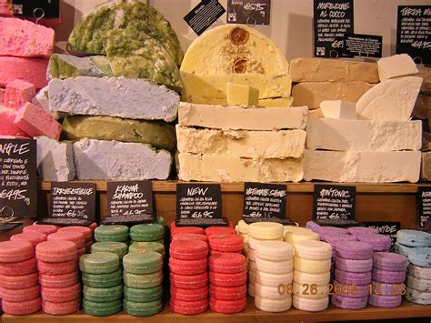 Lush Handmade Soap - soap at lush venice italy soap display at the lush