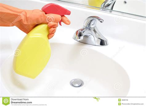 cleaning bathroom sink cleaning bathroom sink royalty free stock images image