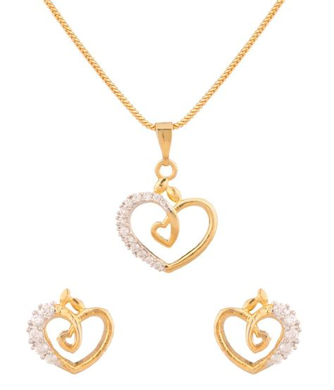 love themes tone voylla gold tone love theme pendant set with chain buy