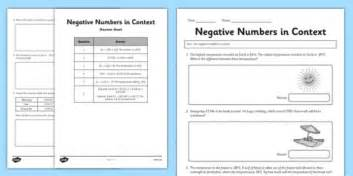 biography in context login year 6 use negative numbers in context activity sheet 2 ks2